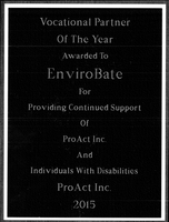 EnviroBate award from ProAct Image