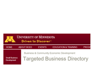 U of MN Targeted Business  Registered Thumb Image
