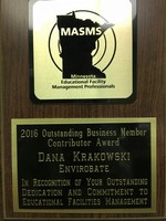 Dana Krakowski, EnviroBate, receives award from MASMS Image